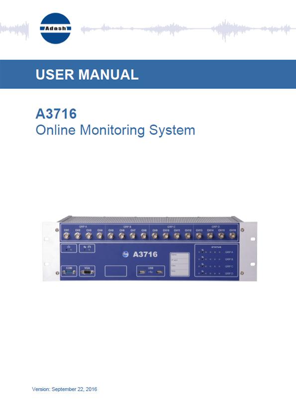 Manual A3716 online manual