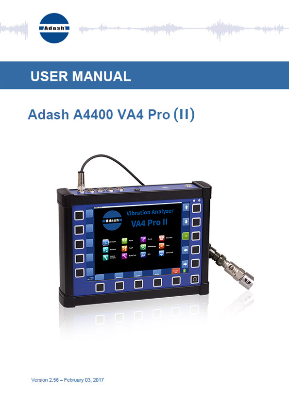 Manual vibration analyzer A4400 VA4 Pro