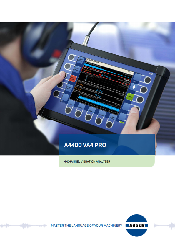 Data sheet vibration analyzer A4400 VA4 Pro