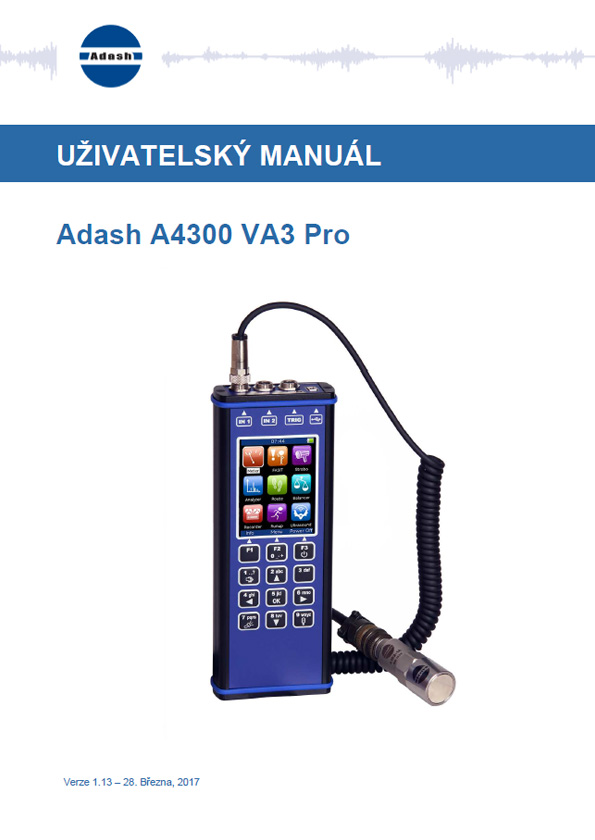Manual vibration analyzer A4300 VA3 Pro