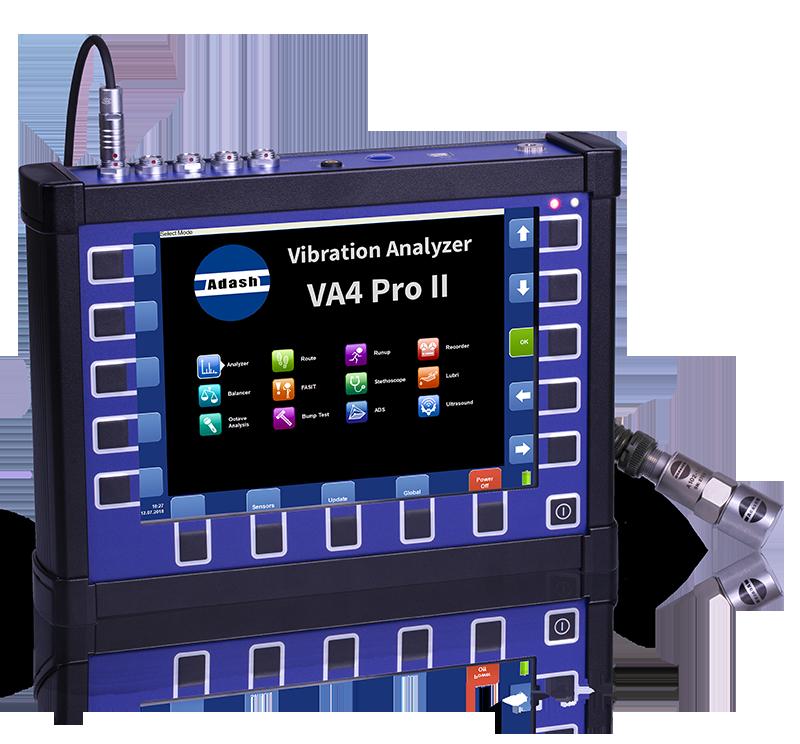 A4400 VA4 Pro II – The Fastest 4-Channel Vibration Analyzer
