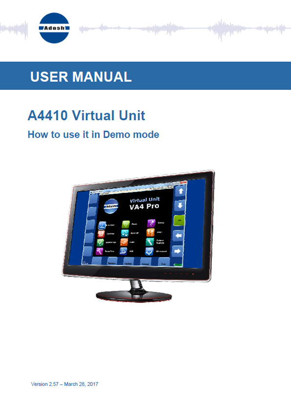Manual virtual unit A4410