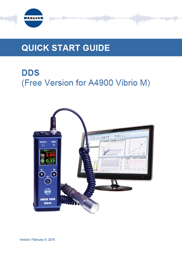 Data sheet vibration meter a4900 Vibrio