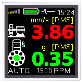 A4900 Vibrio Overall values RMS